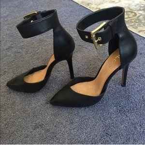 ALDO leather heels with gold buckle Women's 7